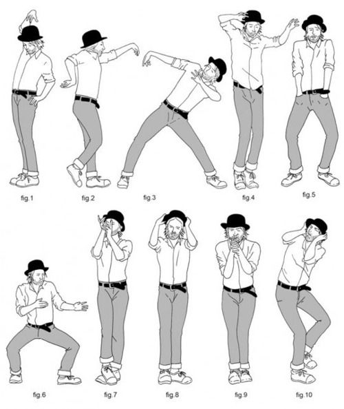 "Tutorial of Thom Yorke's dance moves for ""Lotus Flower"" by Radiohead."