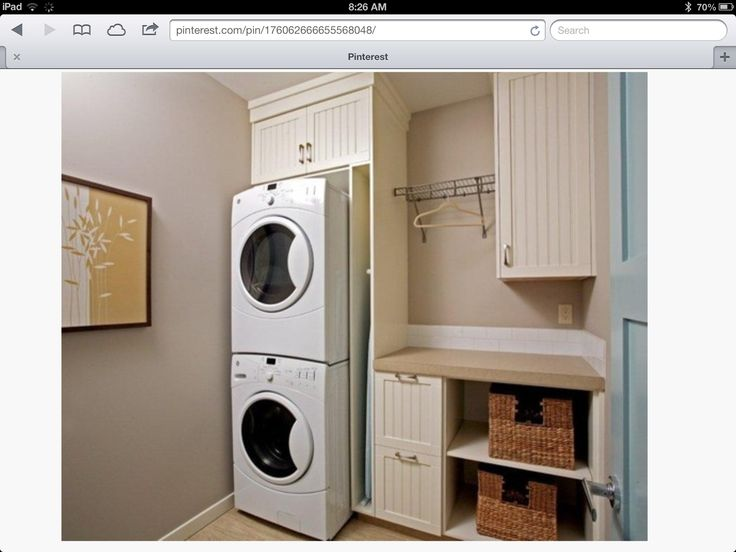 Stacked washer dryer sink laundry room pinterest sinks and layout - Washer dryer for small space property ...