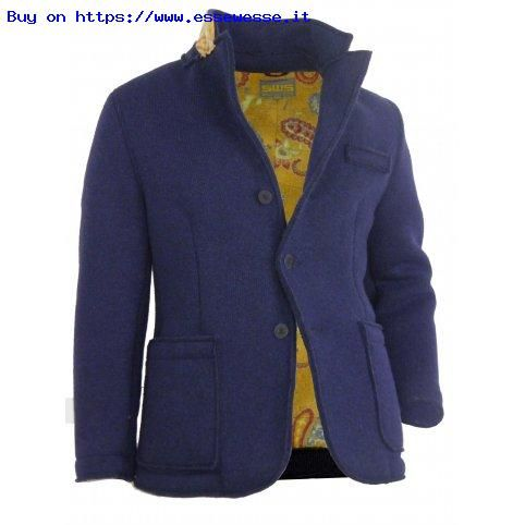 Giacca Girasole, fantasia damasco; Blazer in lana accoppiata