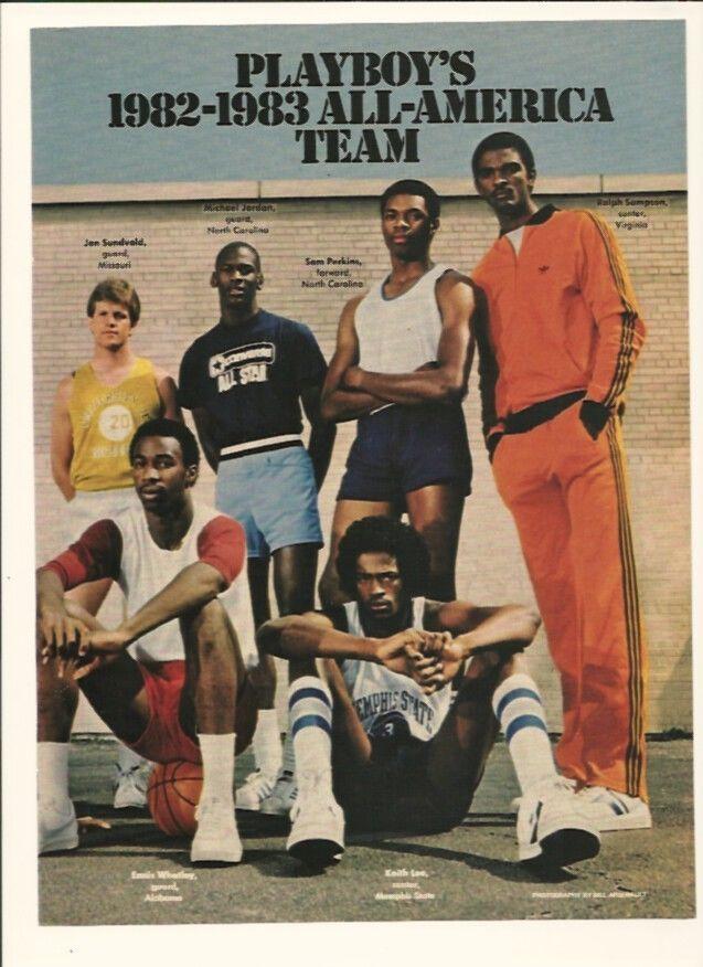Vintage 1982 83 Playboy's All America Team w Michael Jordan Tarheels Ad | eBay