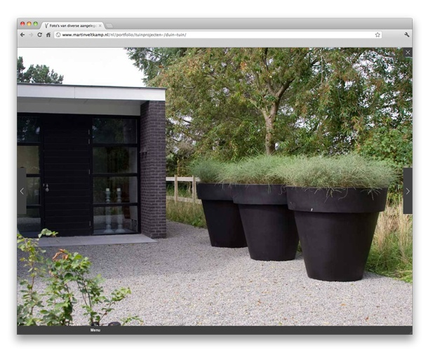 Website Martin Veltkamp Tuinen by Spore Creation