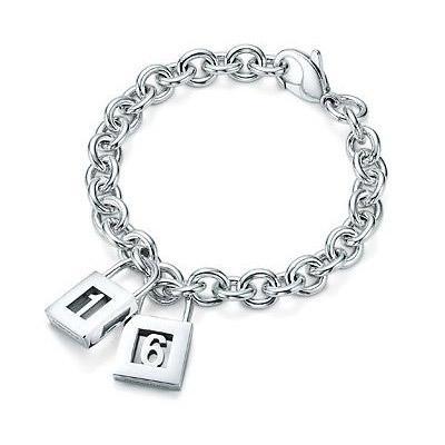 Tiffany Lock Bracelet 16 Lock Charms And Bracelet