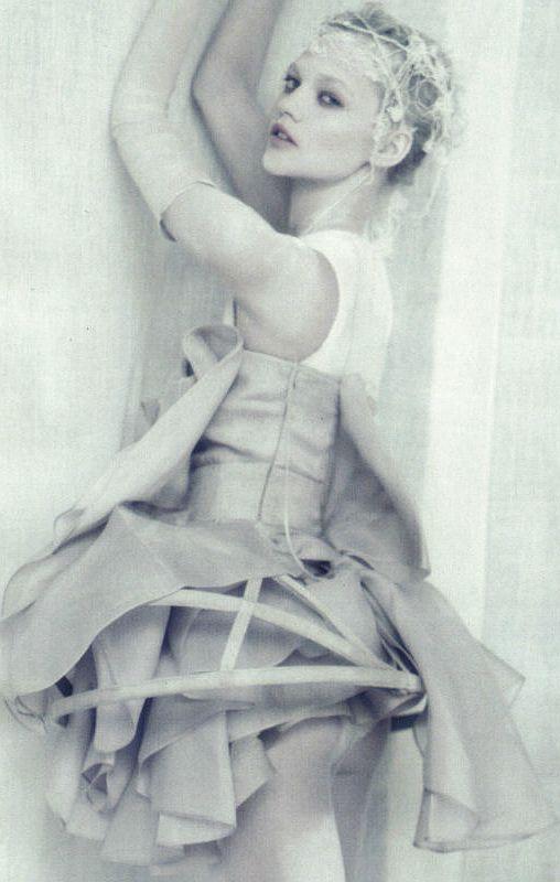 "Sasha Pivovarova in ""A White Story"" by Paolo Roversi for Vogue Italia April 2010"