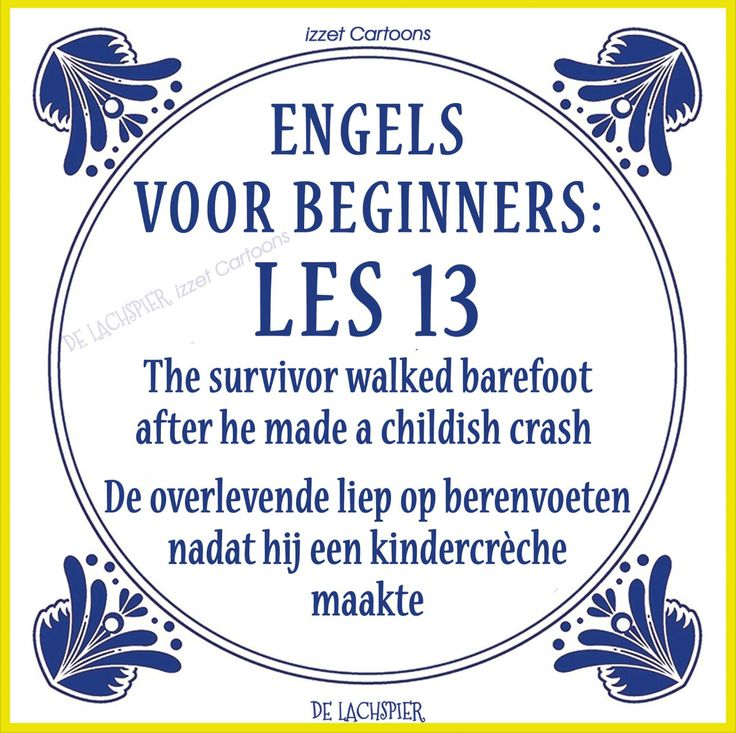 Translation of the Dutch explanation: The survivor walked on bears feet after he made a children's nursery