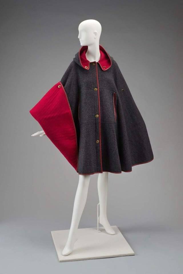 Bonnie Cashin cape circa 1970. From the collection of MFA Boston. © Bonnie Cashin Foundation