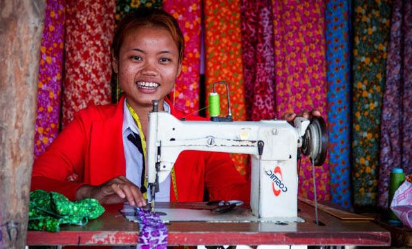 Give a woman in Laos or Cambodia a new sewing machine and regular training, and you'll give her a new way of earning an income to support her family for many years to come. #giftsforgood