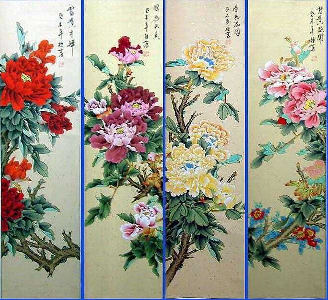 chinese floral paintings - Google Search