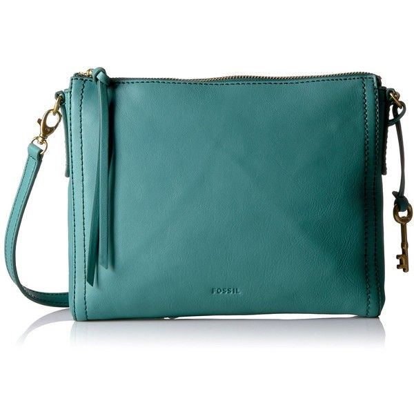 Fossil Emma Ew Crossbody, Teal Green: Handbags: Amazon.com ($122) ❤ liked on Polyvore featuring bags, handbags, shoulder bags, green shoulder bag, crossbody handbags, green crossbody, shoulder handbags and green purse