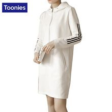 2017 Весной Спортивной Dress Мода Балахон Vestidos Повседневные Платья для Женщин Черный Белый Платье Майка Dress Прямые Платья(China (Mainland))