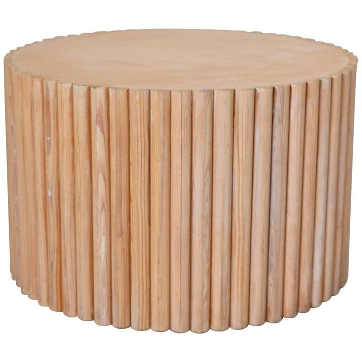 Post-Modern Wooden Drum Form Side Table 1