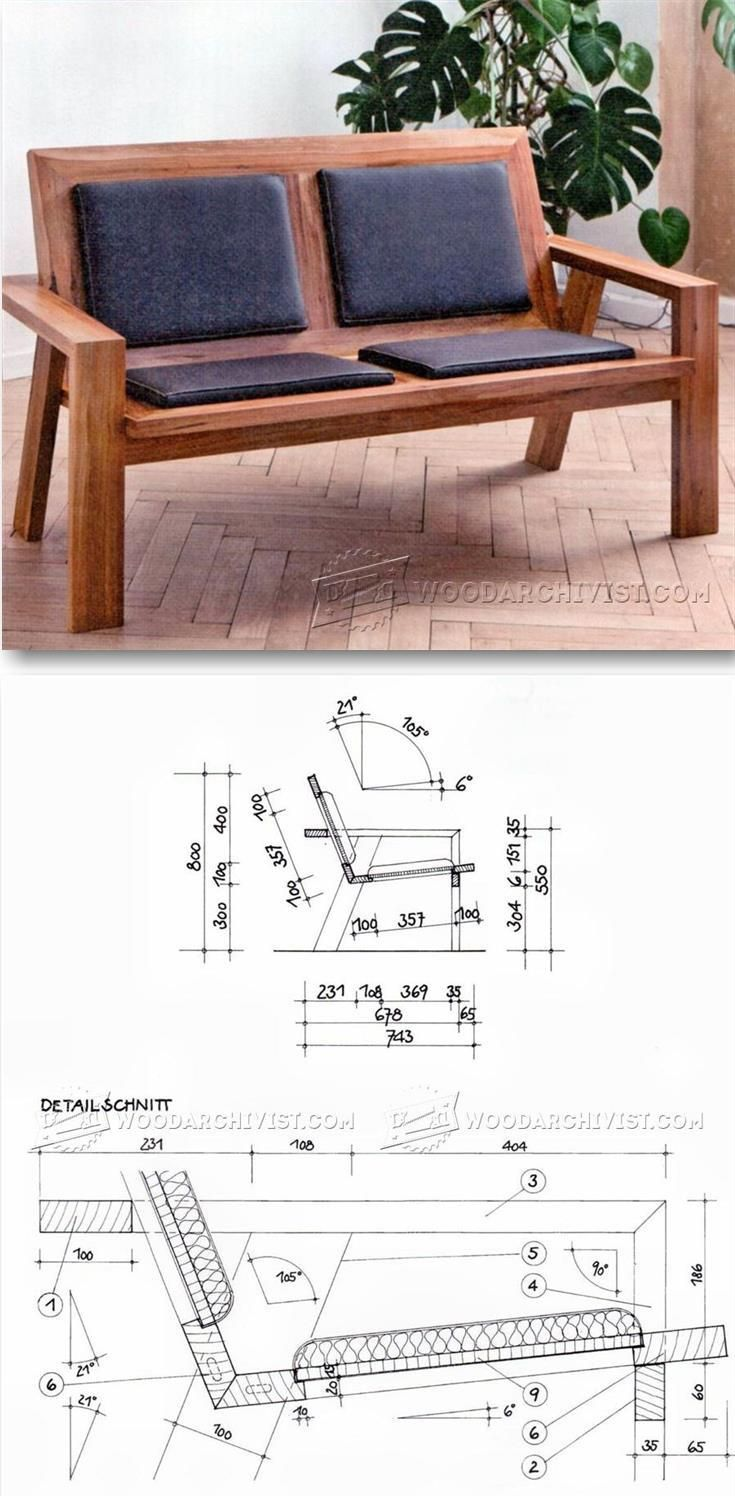 Wooden Couch Plans - Furniture Plans and Projects | WoodArchivist.com