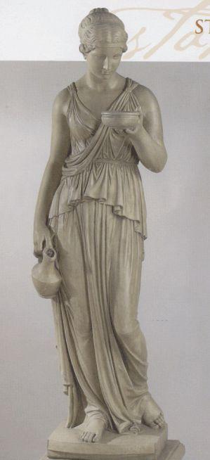 Greek Statue Garden Ornament - Hebe - Concrete