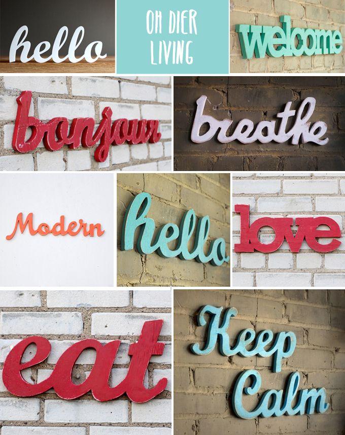 letreros madera - oh dier living