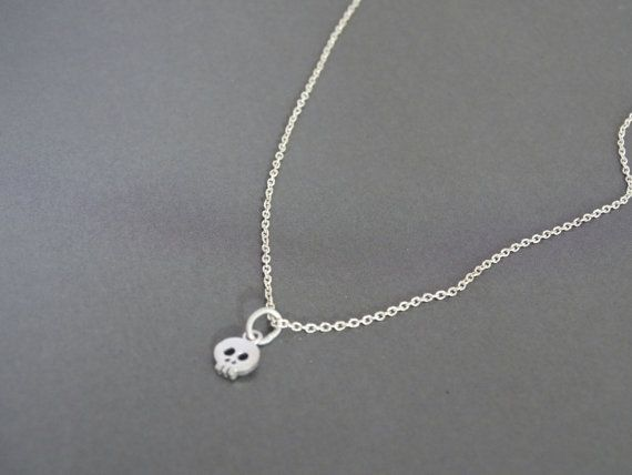 Skull Necklace, Minimalist Necklace, Tiny Necklace, Fashion Jewelry, Cute Gift Ideas for Best Friend Birthday Gift for Girlfriend Gifts