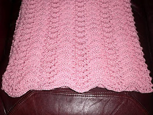 Elegant & Easy Old Shale Baby Blanket pattern