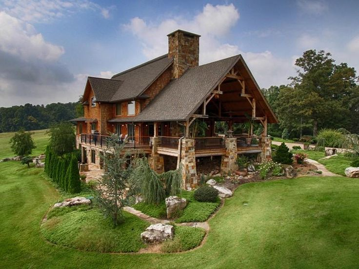 Ravens nest xl front elevation natural element homes for East tennessee home builders