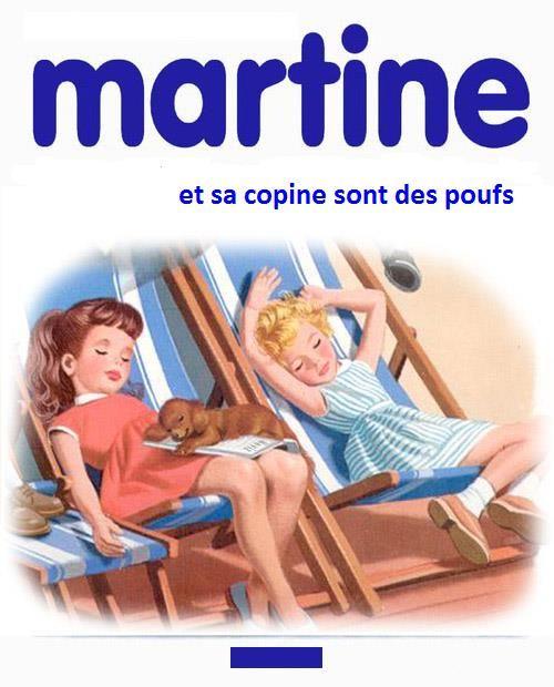 Martine et sa copine sont des poufs
