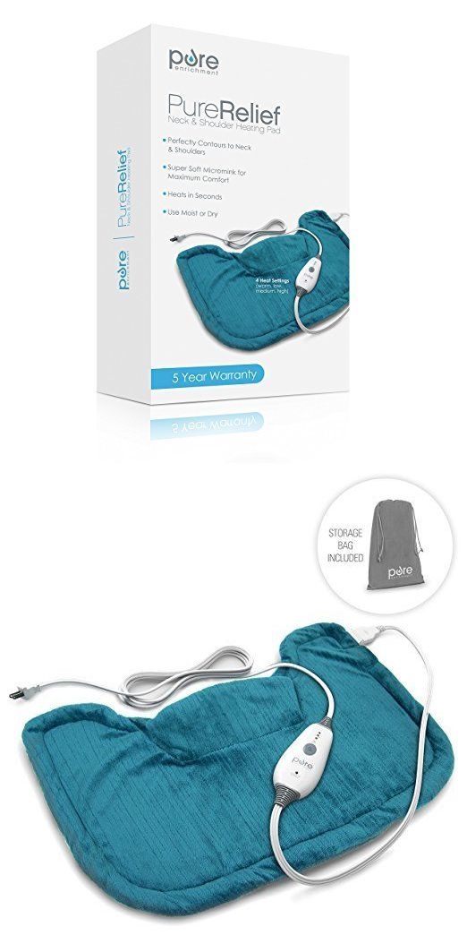 Electric Heating Pads: Purerelief Neck And Shoulder Heating Pad -> BUY IT NOW ONLY: $30 on eBay!