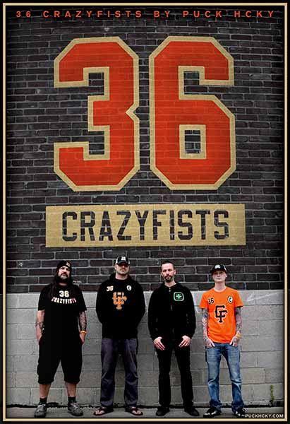 36 CRAZYFISTS 'CRAZYFISTS' HOCKEY POSTER