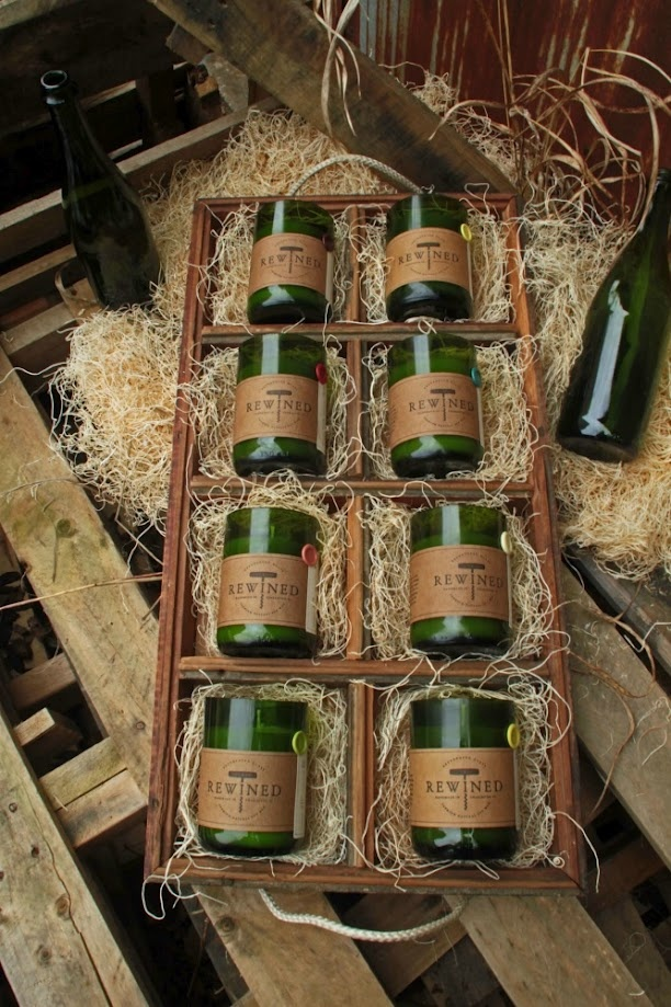 Cheerz to all and to all a good night!!! That's what I would be saying after drinking a bottle and smelling these candles!!! All 8 Rewined Candle varietals in a custom reclaimed wood crate! Cheers!