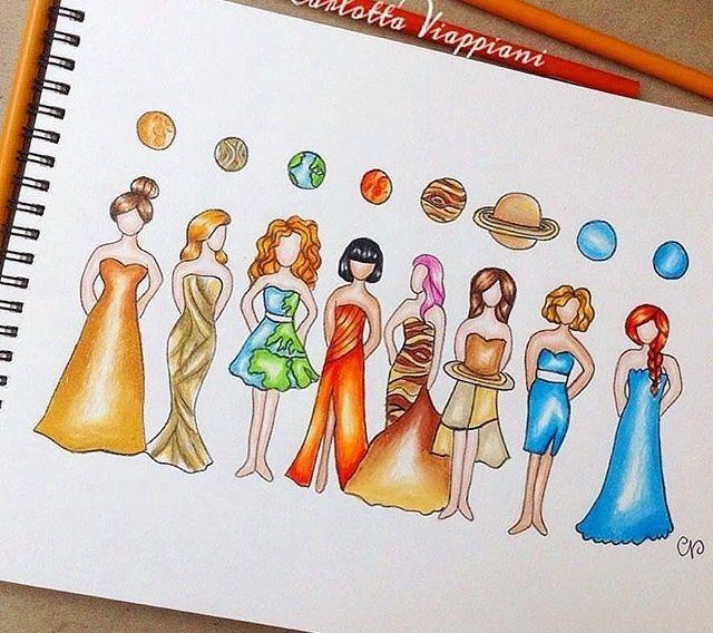 Planet Girls Zeichnungen