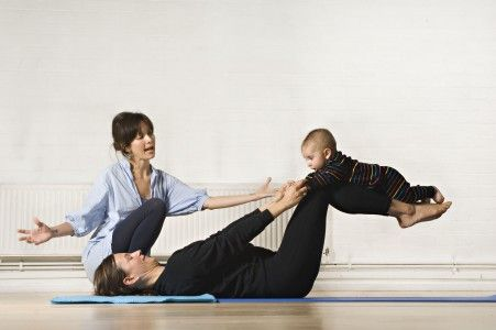 Baby Yoga Guide - a fantastic sequence of postures for moms with babies, including modifications for beginners. Easy to follow pictures and the key benefits of each move!
