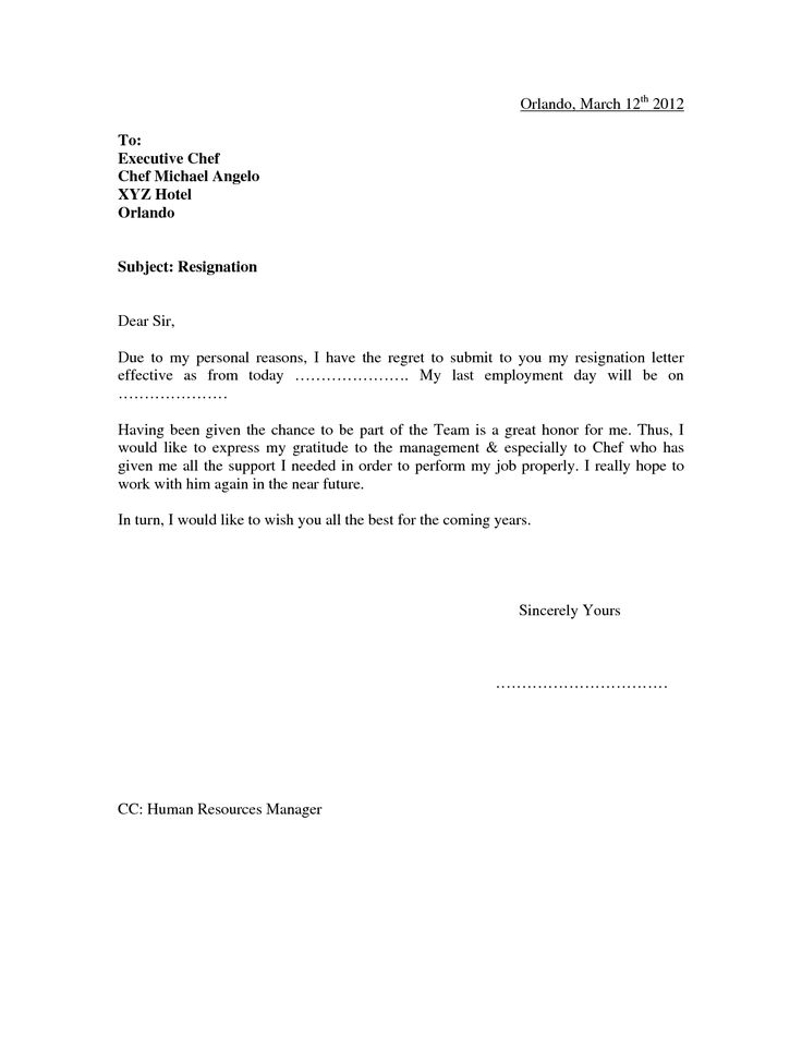 25 best Resignation Letter images on Pinterest Letter templates - 2 week notice letters