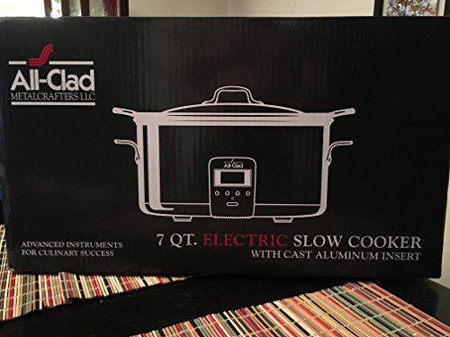 All-Clad Deluxe 7-QT. Slow Cooker // http://cookersreview.us/product/all-clad-deluxe-7-qt-slow-cooker/  #cooker #pressure #electric