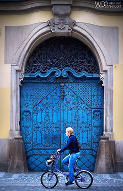 Wroclaw, Poland - a gorgeous blue door in my beautiful city....