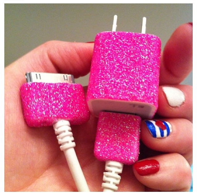Sparkly wall charger!