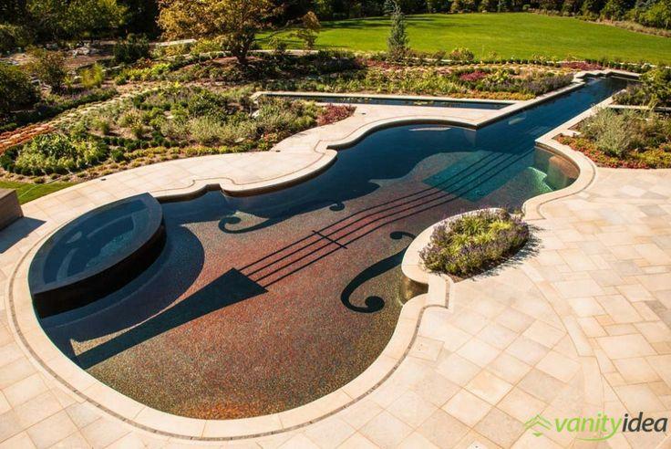 Accurate Swimming Pool Replica of an 18th Century Stradivarius Violin
