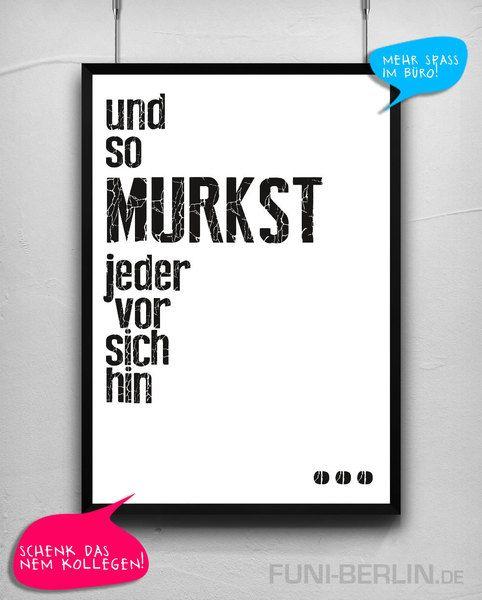 """MURKSEN""   typo poster   size L von FUNI BERLIN auf DaWanda.com"