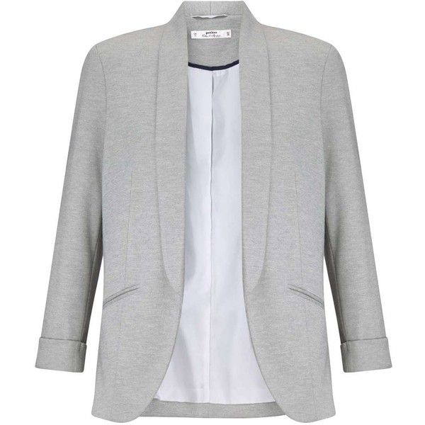Miss Selfridge Petites Grey Blazer Jacket ($68) ❤ liked on Polyvore featuring outerwear, jackets, blazers, grey, petite, petite jackets, blazer jacket, grey blazer, grey jacket and miss selfridge