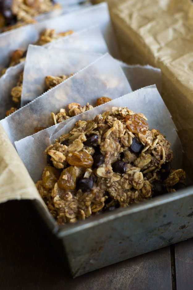 Vegan Chocolate Chip Oatmeal Cookies from Laura Theodore's Vegan-Ease. Photo by Annie Oliverio.