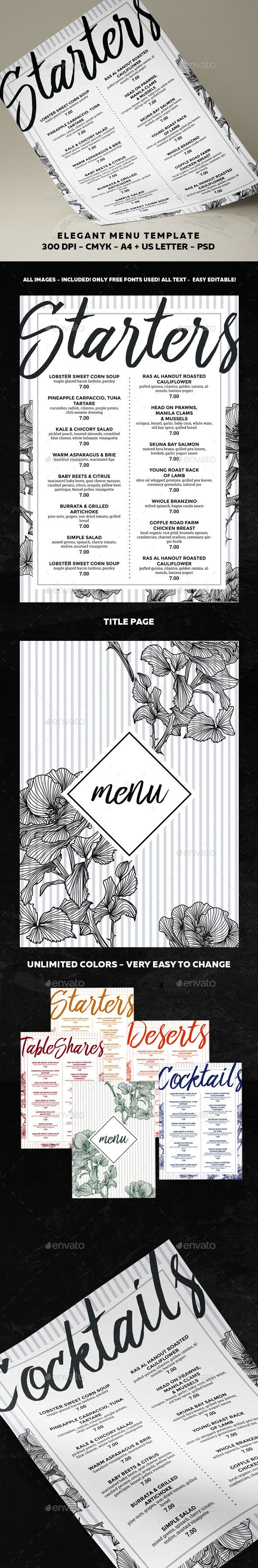 346 best DESIGN | Menus images on Pinterest | Menu layout ...