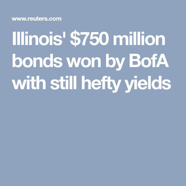 Illinois' $750 million bonds won by BofA with still hefty yields