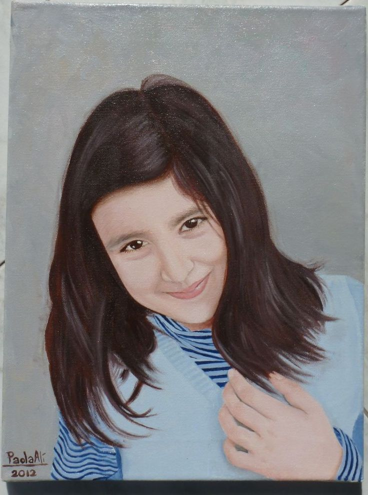 Custom OIL PAINTING PORTRAIT on canvas from photos renowned artist REALISM