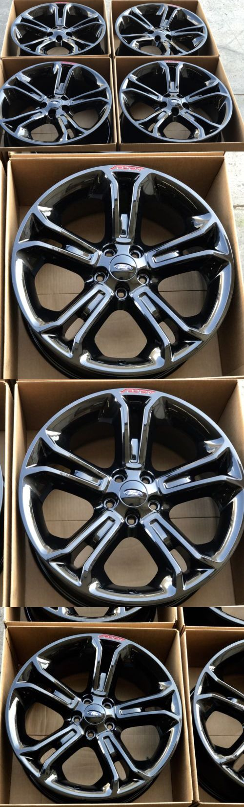 auto parts - general: 20 Ford Explorer Sport Black Wheels Rims Factory Oem 2014 2015 2016 3949 -> BUY IT NOW ONLY: $1495 on eBay!