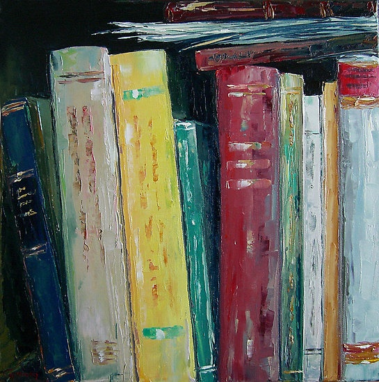 """""""Library"""" by Claudia Hansen   Oil on canvas"""