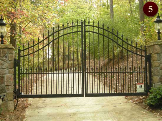 residential gates raleigh custom wrought iron gates driveway u0026 walkway aluminum gates