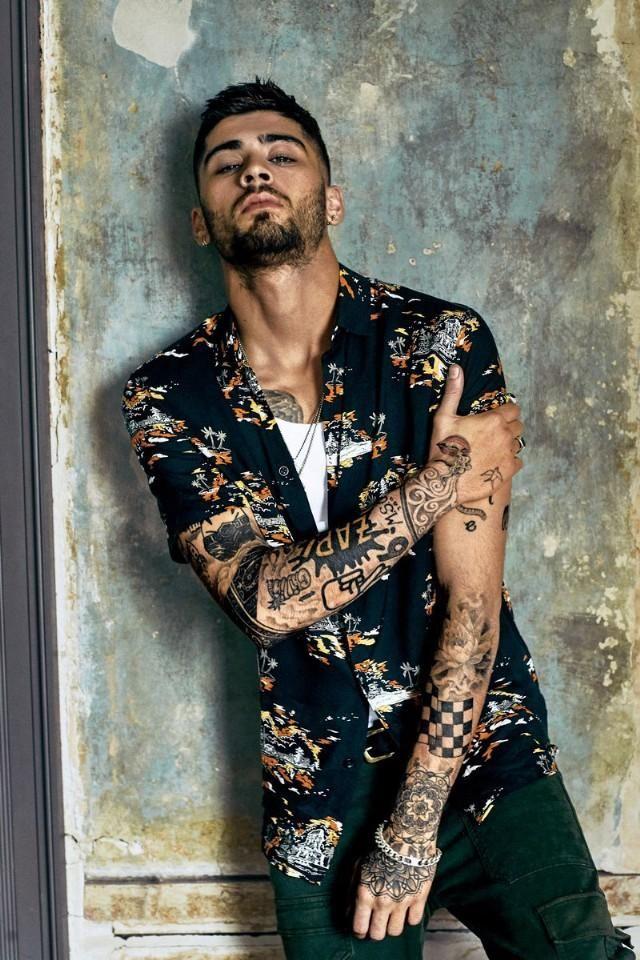 Zayn Malik wearing Topman Short Sleeve Print Shirt