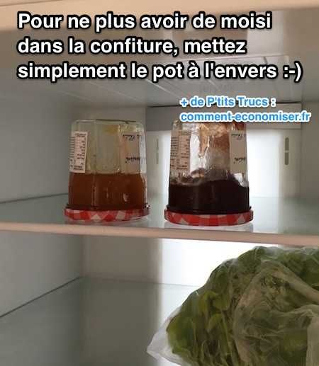 Voici un truc tout simple pour empêcher votre confiture de moisir.  Découvrez l'astuce ici : http://www.comment-economiser.fr/astuce-pour-empecher-moisissure-pot-confiture.html?utm_content=buffer9cd14&utm_medium=social&utm_source=pinterest.com&utm_campaign=buffer