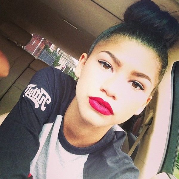 Zendaya Says Why She Backed Out of Aaliyah Biopic ❤ liked on Polyvore featuring hair