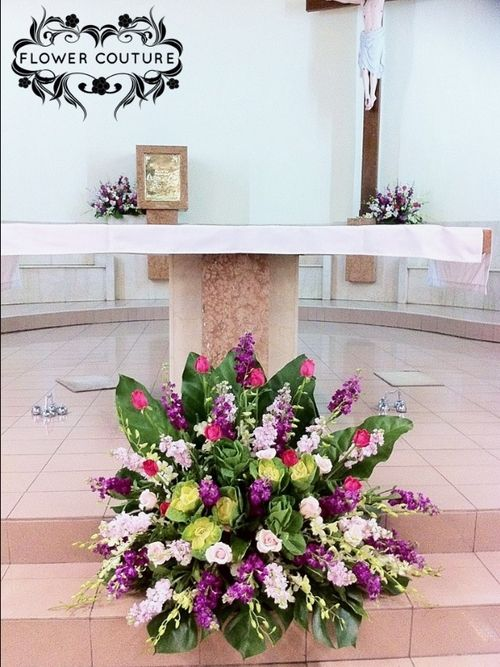 Church Altar Wedding Decorations Pictures : Best images about church wedding decorations on