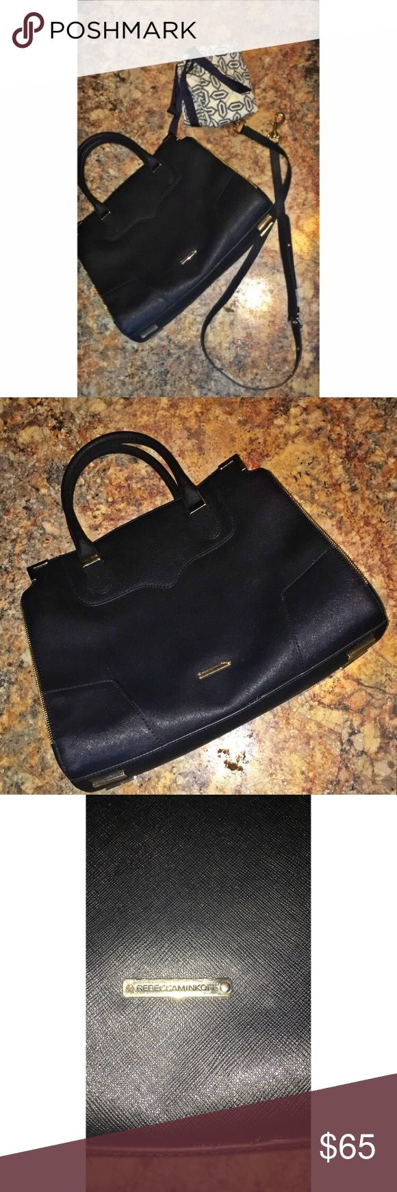 Black Rebecca Minkoff Purse Black Rebecca Minkoff Purse 😍 Comes with Duster and Strap ✨Free Gift With Every Order ✨ Fast Shipping ✈️ Same Day Shipping If Ordered Before 3PM ✔️ Offers Welcome ❗ Rebecca Minkoff Bags Shoulder Bags