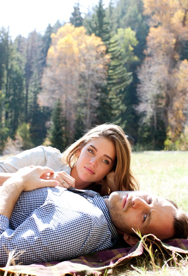 Outdoor Woods Engagement - Inspired By This--GORGEOUS PICS--also love their outfits