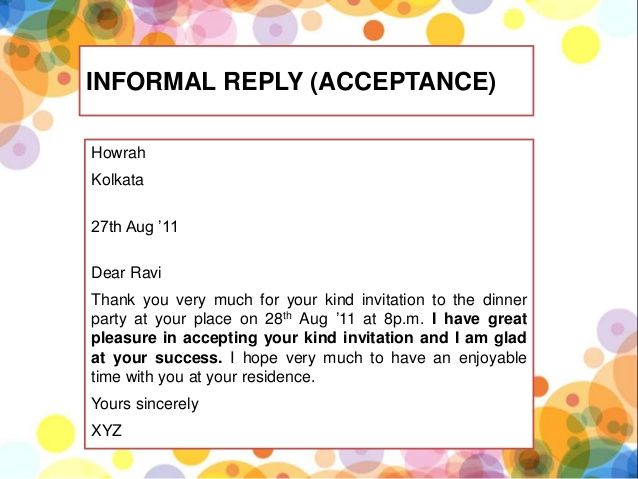 what is formal invitation and informal