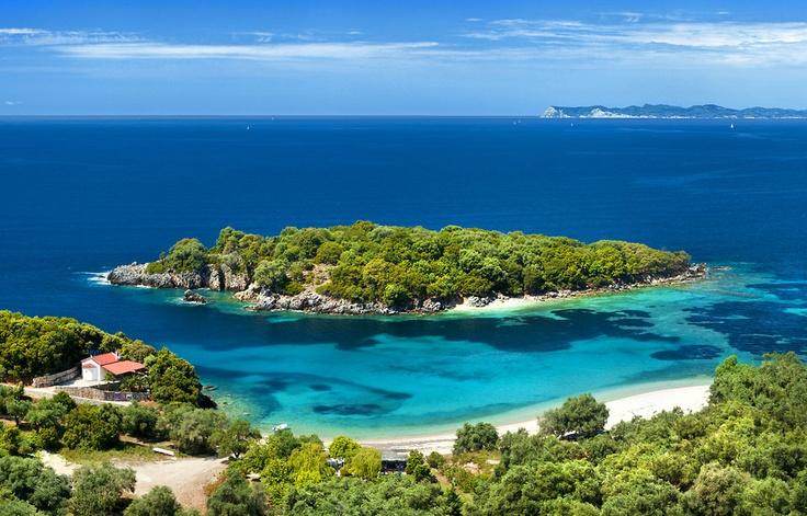 Beautiful Greek beach near Sivota, the Ionian sea