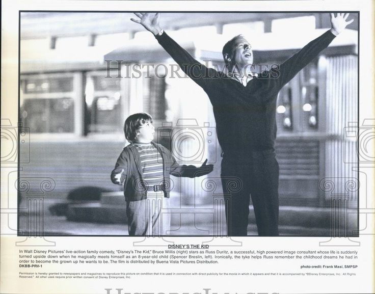 """Press Photo Bruce Willis and Spencer Breslin in """"The Kid"""""""