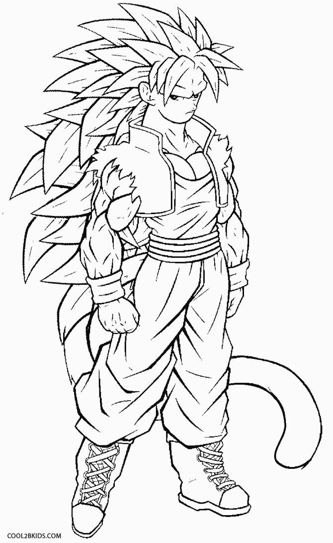 Printable Goku Coloring Pages For Kids Cool2bkids